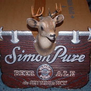 Simon Pure deer head sign  - Signs