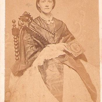 Sarah Lewis Lake CDV  circa 1862
