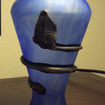 Snake Vase - Art Glass