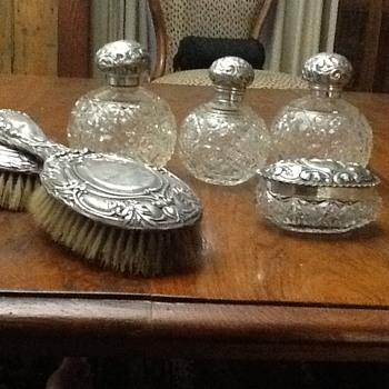 Antique scent bottles