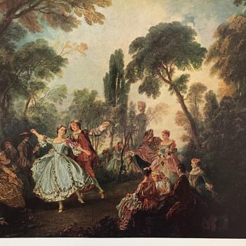 Lancret print titled La Camargo Dancing - Posters and Prints