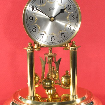 Schatz Standard 400 Day Clock, 1952, with Engraved, Silvered Dial. - Clocks