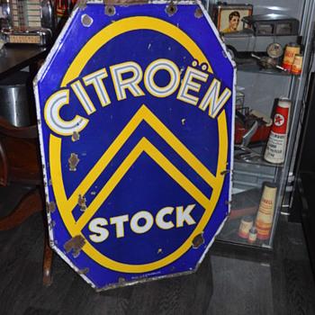 citroen stock dealership porcelain sign - Advertising