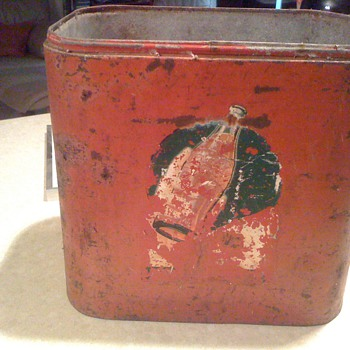 Early Cocca cola Cooler painted graphics
