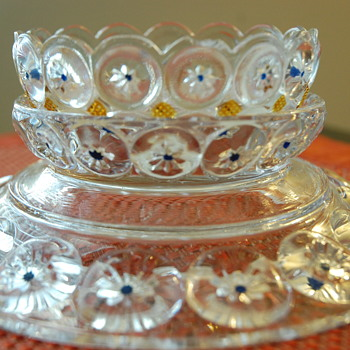 EAPG pickle dish Imperial Jeweled Moon & Star  - Glassware