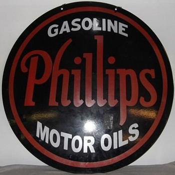 Phillip's sign from the 30s NOS mint sign - Petroliana