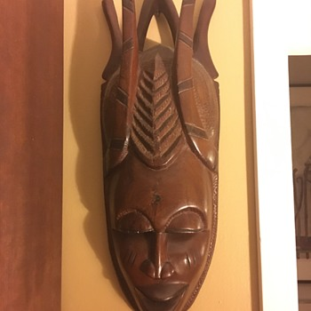 Two African Masks - Fine Art