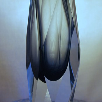 Facet Cut Vase:  Murano, Strombergshyttan, Joska? - Art Glass