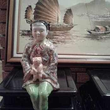 Vintage Chinese Porcelain Statue - Asian