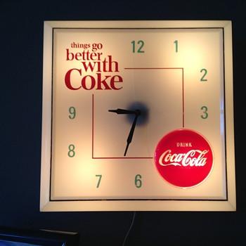 My 1960s coca cola light up clock - Coca-Cola