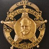 "14k gold Great Northern Railway ""Chief Special Agent badge"