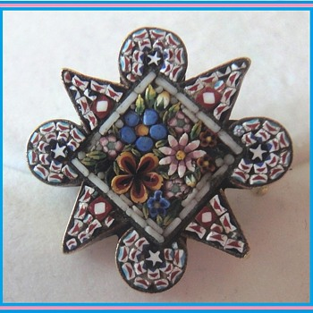 Micro Mosaic little Brooch - Fine Jewelry