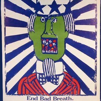 Original 1967 Seymour Chwast Anti-Vietnam War Poster