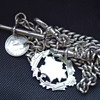 English Pocket Watch Chain Sterling Silver Circa {1913}