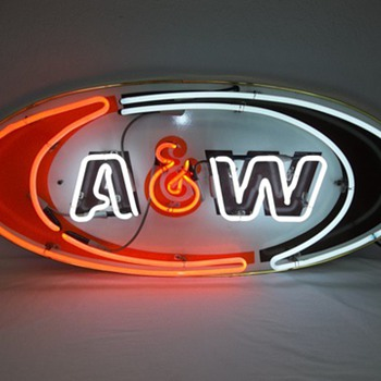A & W Neon Sign - Signs