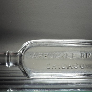 Arbuckle Brothers Vanilla Extract Bottle Flask Chicago, Illinois Embossed Clear Vintage Antique Owens Company - Bottles