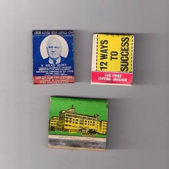 Vintage Match Books Life Insurrance Free Offer