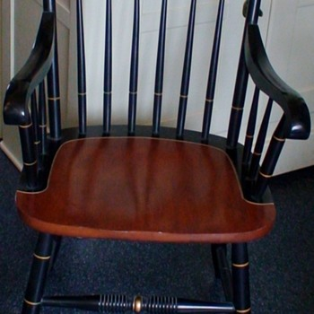 """Hitchcock """"Thomas Jefferson"""" Chair """"Rebellion To Tyrants Is Obedience To God"""" - Furniture"""