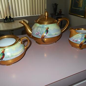 Pichard pheasant set signed edward s. challinor - China and Dinnerware