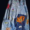 Colorado found original 1960s hippie embroidered denim maxi skirt