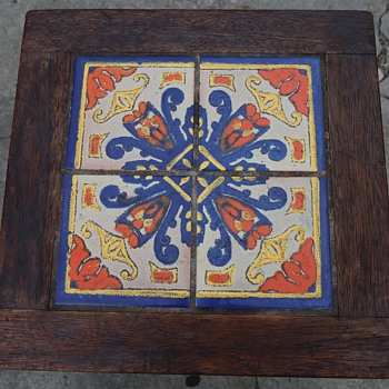 Oak and Tile California Table - Arts and Crafts
