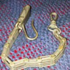 WWII era sword scabbard belt hook and chain