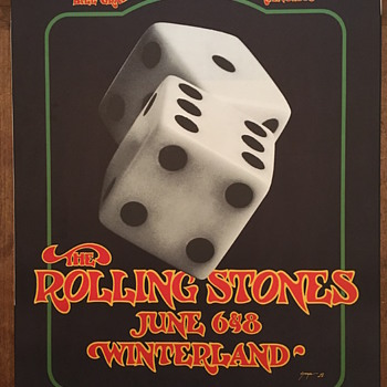 Rolling Stones at Winterland, 1972 - Posters and Prints