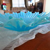 Fluted Blue Glass Bowl
