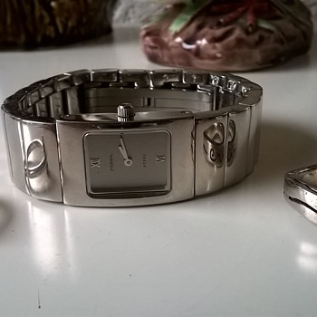 $1.00-----> 2 Sterling Rings & A Fossil Steel Analog Wristwatch, Thirft Shop Finds