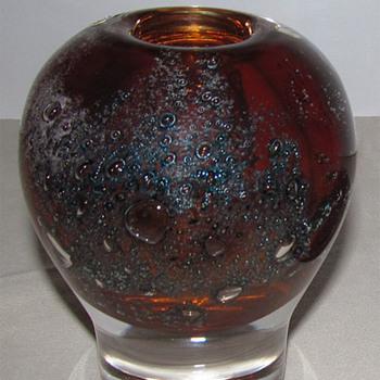 Heikki Orvola Volcano vase 1974 - Art Glass