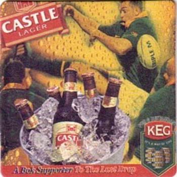 Rugby beer mats