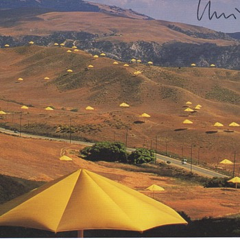 Christo Umbrellas Postcard, 1992 - Postcards