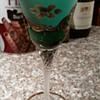 Bohemian Raised Flower Wine Goblet?