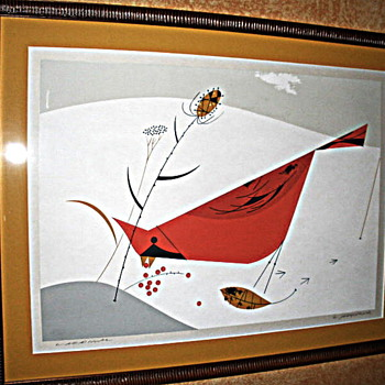 Charles Harper Cardinal Serigraph - Fine Art