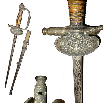 Sword with whistle