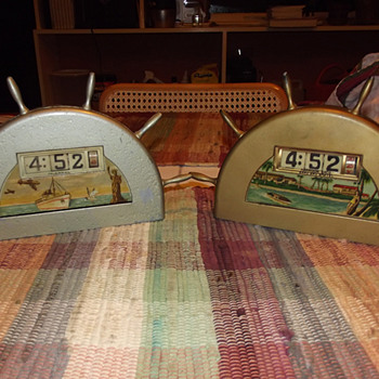 Television (Pennwood) Corporation Ships Wheel Clocks 1945-55 - Clocks