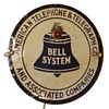 AT&T Bell Systems Circle Porcelain Sign