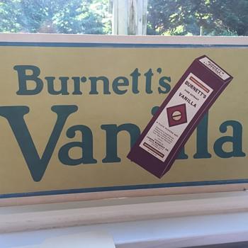 Burners Vanilla Extract Cardbord Sign