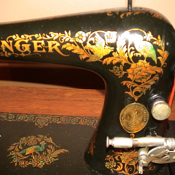My Singer model 27 circa 1901 with Pheasants - Sewing