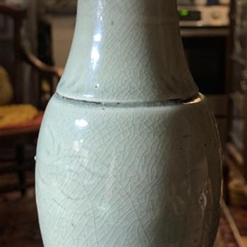 Longquan Vase - inscribed design - Asian