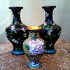 """""""A Pair Plus One"""" Cloisonne Vases /Marked China /Unknown Age"""