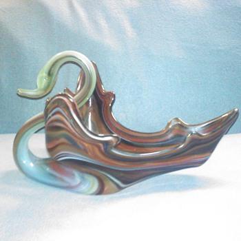 GLASS SWAN - Art Glass