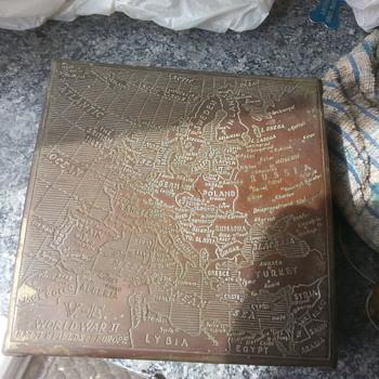 BRASS BOX from world war 2