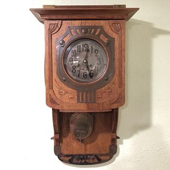 Art Nouveau Wall Clock Kraft Behrens - Art Nouveau