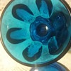 Beautiful small blue covered candy dish?