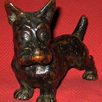1930's Armor Bronze Scottish Terrier Bookend - Animals