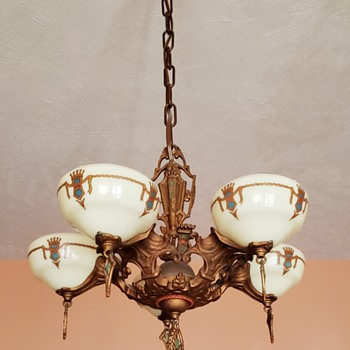 Gill 5 Light Chandelier  - Art Deco