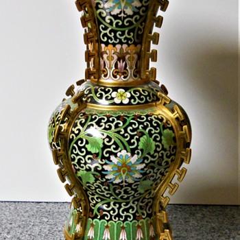 Gu Chinese Cloisonne Vase - Asian