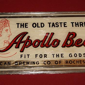 Apollo Beer (reverse on glass)