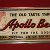 Apollo Beer (reverse on glass)